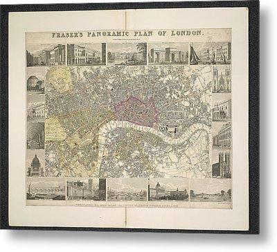 Plan Of London Metal Print by British Library
