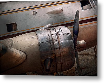 Metal Print featuring the photograph Plane - A Little Rough Around The Edges by Mike Savad