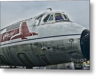Plane Capital Airlines Metal Print by Paul Ward