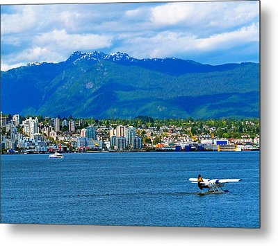 Planes Boats And Mountains In Vancouver  Metal Print by Carol Cottrell