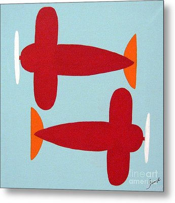 Planes  Metal Print by Graciela Castro