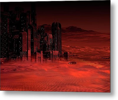 Planet Mars In The Future Metal Print by Victor Habbick Visions