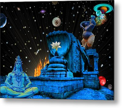 Planet Of Shiva  Metal Print by Jason Saunders