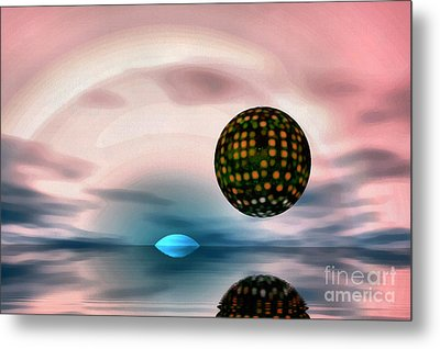 Planet Reflections Metal Print by Odon Czintos
