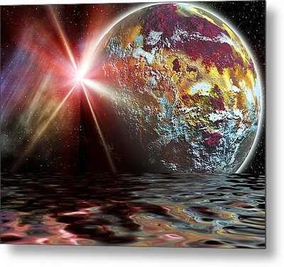 Planet Zorcon Metal Print by Camille Lopez