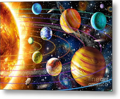 Planetary System Metal Print by Adrian Chesterman