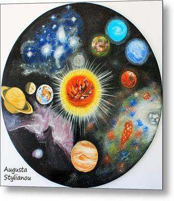 Planets And Nebulae In A Day Metal Print by Augusta Stylianou