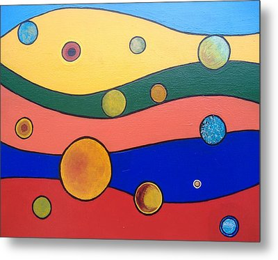 Planets Metal Print by Steve  Hester