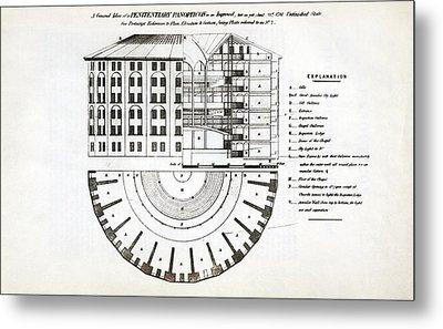 Plans For A Panopticon Prison Metal Print