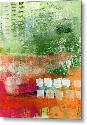 Plantation- Abstract Art Metal Print by Linda Woods