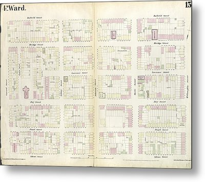 Plate 13 Map Bounded By Concord Street, Duffield Street Metal Print by Litz Collection