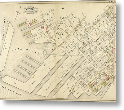 Plate 31 Bounded By Richards Street, Partition Street Metal Print by Litz Collection
