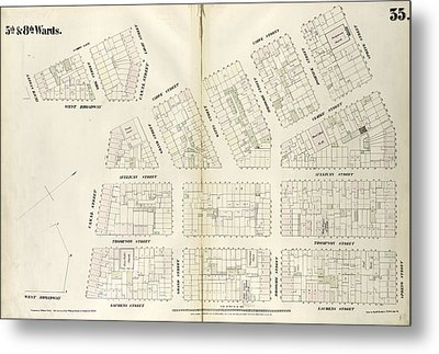 Plate 35 Map Bounded By Spring Street, Laurens Street Metal Print by Litz Collection