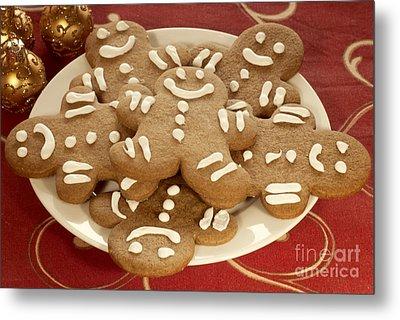 Plateful Of Gingerbread Cookies Metal Print by Juli Scalzi