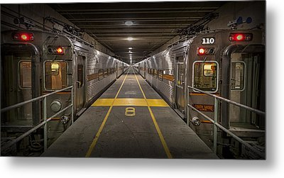 Platform Eight At Union Station Metal Print by Adam Romanowicz