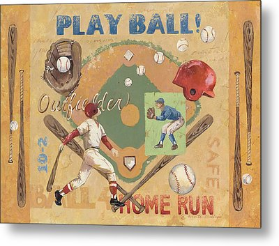 Play Ball Metal Print by Anita Phillips