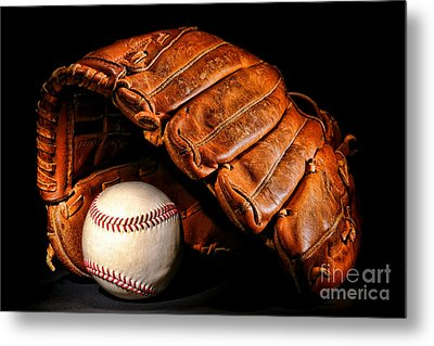 Play Ball Metal Print by Olivier Le Queinec