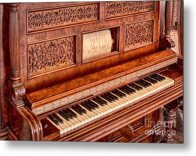 Piano Keys In The Key Of Life Metal Print by Inge Johnsson