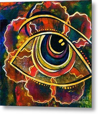 Metal Print featuring the painting Playful Spirit Eye by Deborha Kerr
