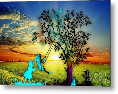Playful Sunset Metal Print by Marvin Blaine