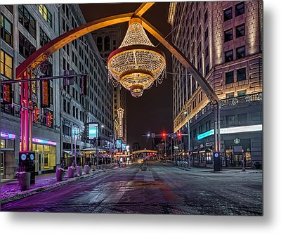 Metal Print featuring the photograph Playhouse Square Chandelier  by Brent Durken
