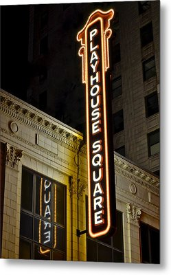 Playhouse Square Metal Print by Frozen in Time Fine Art Photography