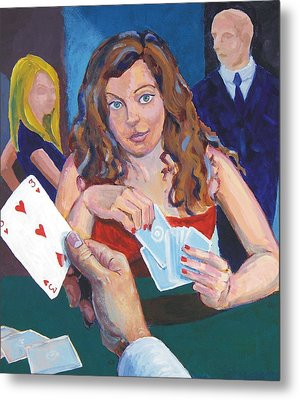 Playing Cards Metal Print by Mike Jory