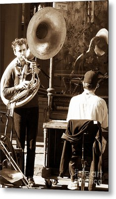 Playing In New Orleans Metal Print by John Rizzuto