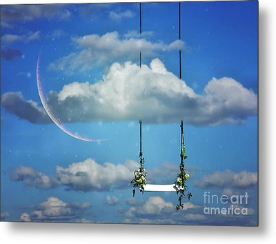 Playing In The Clouds Metal Print