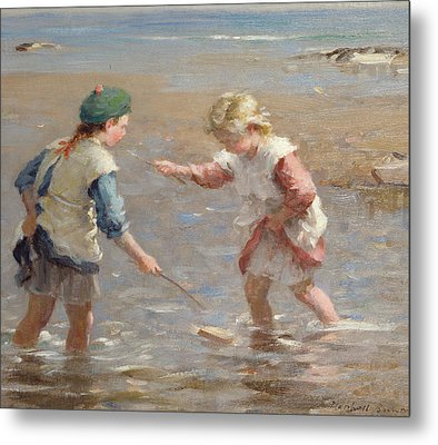 Playing In The Shallows Metal Print