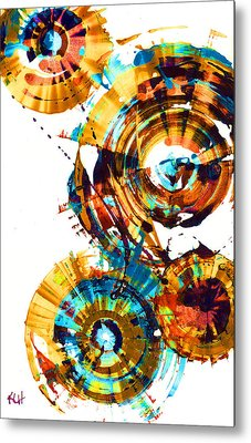 Metal Print featuring the painting Playing In The Wind 1000.042312 - Popart-1 by Kris Haas