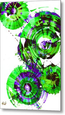 Metal Print featuring the painting Playing In The Wind 1000.042312 - Popart-2 by Kris Haas