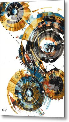 Metal Print featuring the painting Playing In The Wind 1000.042312 by Kris Haas