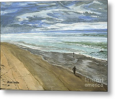 Metal Print featuring the painting Playing On The Oregon Coast by Ian Donley