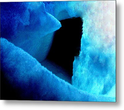 Playing With The Snow And Ice Kappl Mountain Austria  Metal Print by Colette V Hera  Guggenheim