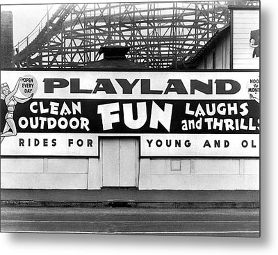 Playland At The Beach Metal Print by Underwood Archives