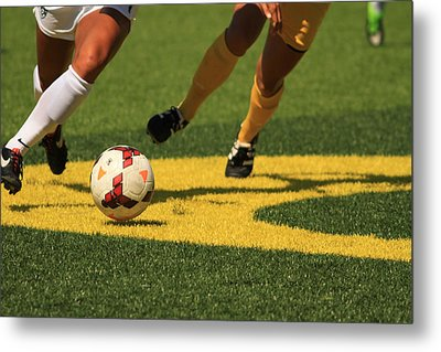 Plays On The Ball Metal Print by Laddie Halupa