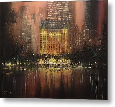 Plaza Hotel New York City Metal Print by Tom Shropshire