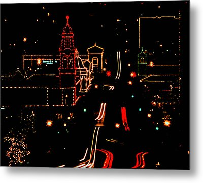 Plaza Lights 1978 Metal Print
