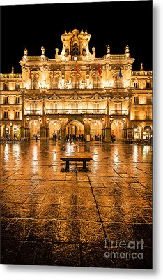 Plaza Mayor In Salamanca Metal Print