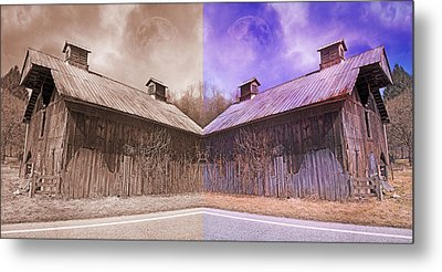 Pleasant View Country Barns Metal Print by Betsy Knapp