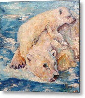 You Need Another Nap, Polar Bears Metal Print