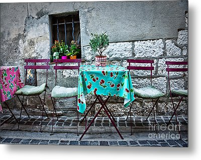 Please Have A Seat Metal Print by Delphimages Photo Creations