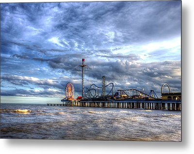 Pleasure Pier Galveston Metal Print