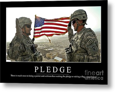 Pledge Inspirational Quote Metal Print by Stocktrek Images