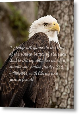 Pledge Of Allegiance Metal Print by John Black