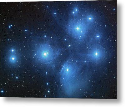 Pleiades - Star System Metal Print by Absinthe Art By Michelle LeAnn Scott