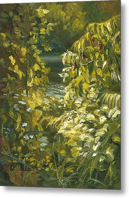 Plein Air - By The Chicopee River Metal Print by Lucie Bilodeau