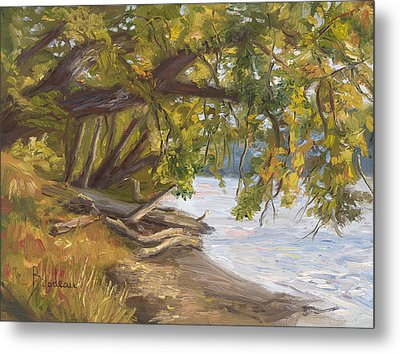 Plein Air - Chicopee River Metal Print by Lucie Bilodeau