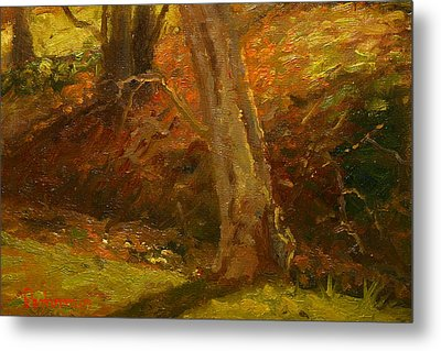 Plein Air Winter Trunks Metal Print